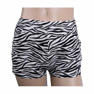 Vintage zebra print hotpants voor dames