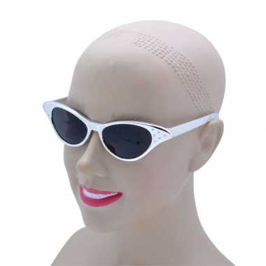 Vintage zilveren feestbril voor volwassenen
