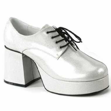 Vintage zilveren glitterschoenen voor heren