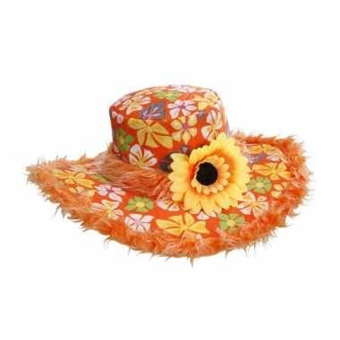 Vintage zonnebloem hoed ibiza