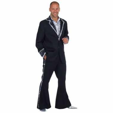 Vintage zwart bling bling kostuum heren