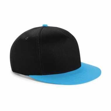 Vintage zwart met blauwe kinder baseball cap