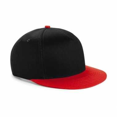 Vintage zwart met rode kinder baseball cap