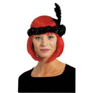 Vintage zwarte charleston hoofdband