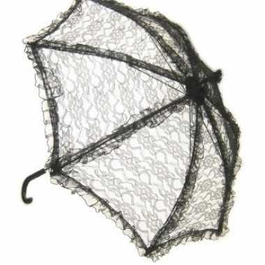 Vintage zwarte kanten bydemeyer paraplu