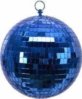 Vintage 1x blauwe disco kerstballen discoballen discobollen foam 20 cm
