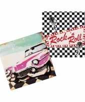 Vintage 24x rock n roll servetten 33 x 33 cm