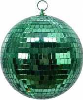 Vintage 2x groene disco kerstballen discoballen discobollen foam 20 cm