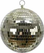 Vintage 3x stuks grote gouden disco kerstballen discoballen discobollen foam 20 cm