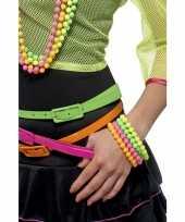 Vintage 4 kralen armbanden neon kleuren