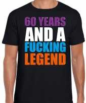 Vintage 60 year legend 60 jaar legende cadeau t-shirt zwart heren