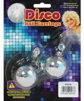 Vintage 60s discobal oorbellen