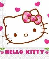 Vintage 60x hello kitty themafeest servetjes 60 cm
