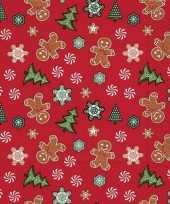 Vintage 60x kerst dessin servetten rood 33 x 33 cm
