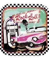 Vintage 6x rock n roll bordjes 23 cm
