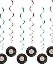 Vintage 6x rock n roll rotorspiralen 85 cm