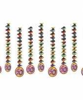 Vintage 9x rotorspiralen 60 jaar versiering feestartikelen