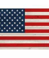 Vintage amerikaanse vlag poster 84 x 59 cm