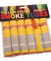 Vintage bengaalse fakkels geel 6 stuks 45 60 sec