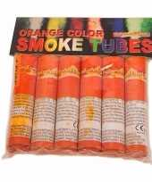 Vintage bengaalse fakkels oranje 6 stuks 45 60 sec
