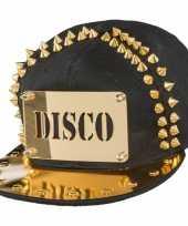 Vintage disco pet met gouden spikes