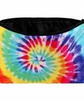 Vintage etui tie dye regenboog 20 x 14 cm