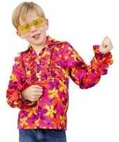 Vintage hippie blouse met rouches voor kinderen
