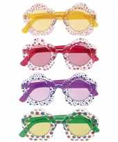 Vintage hippie bril voor volwassenen