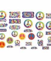 Vintage hippie feest decoratie 30 stuks