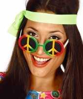 Vintage hippie flower power peace verkleed bril