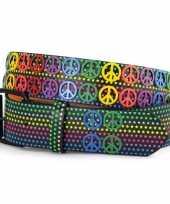 Vintage hippie riem peace en sterren