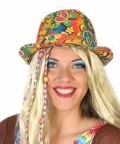 Vintage hippie trilby verkleed hoedje voor volwassenen