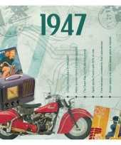 Vintage historische verjaardag cd kaart 1947