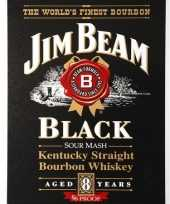 Vintage jim beam black bourbon muurplaat