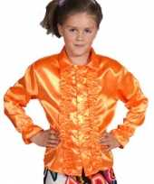 Vintage luxe oranje rouches blouse kinderen
