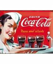 Vintage muurplaat coca cola 30 x 40 cm