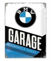 Vintage muurplaatje bmw garage 30 x 40 cm