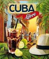 Vintage muurplaatje cuba libre 15 x 20 cm