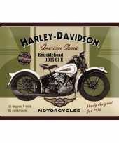 Vintage muurplaatje harley davidson 30 x 40 cm 10068594
