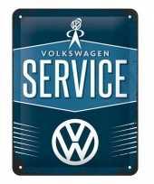 Vintage muurplaatje volkswagen service 15 x 20 cm