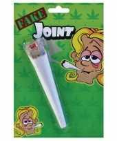 Vintage nep marihuana joint 15 cm hippie sixties verkleed accessoires