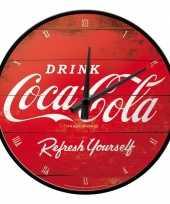 Vintage ronde wandklok coca cola
