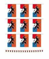 Vintage set van 3x stuks holland oranje vlaggenlijnen met leeuw 10 meter