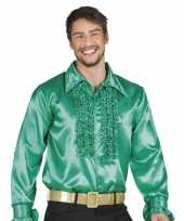 Vintage voordelige groene rouche blouse